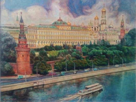 Мирзаев Х. Г.. Пейзаж Москва. Кремль