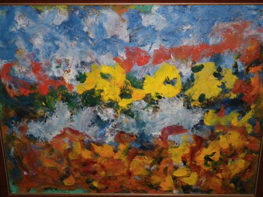 """Bukh A. F. """"Landscape with yellow flowers ."""""""