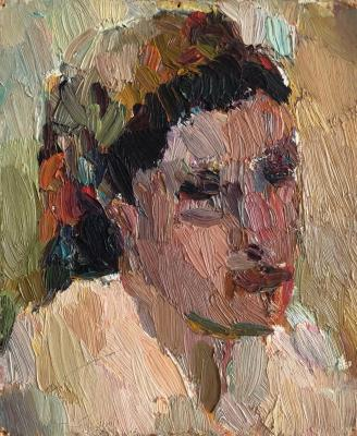 Турецкий Борис Захарович. Портрет женщины в косынке
