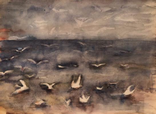 Белаковская Виктория Марковна. Чайки на море
