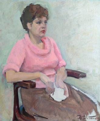 Ребане Эрих Иоганесович. Женский портрет в розовом