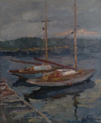 Ребане Эрих Иоганесович. Вечер. Лодки