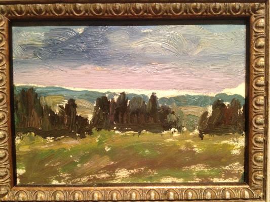 "Udaltsova N. A. ""Evening landscape."""