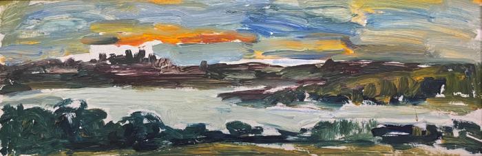 "Udaltsova N. A. ""Sunset. Istrinsk reservoir."""