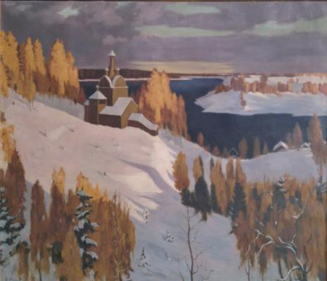 Фокина Светлана. Церковь над озером. Зима