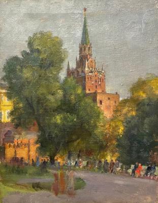 Шлепнёв Василий Степанович. В Александровском саду. Москва.