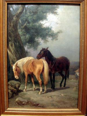 "Villevalde A. B. ""Horses at the tree"""