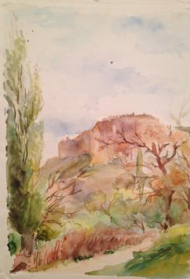 "Solodovnikova N. A. ""Landscape with poplars ."""