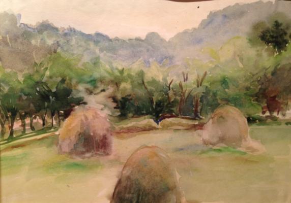 """Solodovnikova N. A. """"Landscape with Stozhkov ."""""""