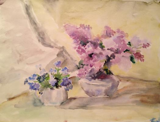 "Solodovnikova N. A. ""Still life with lilacs ."""