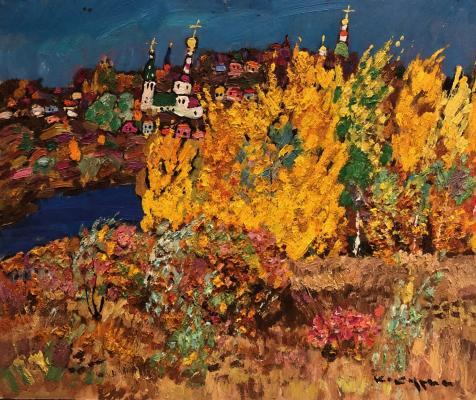 Кокурин Валерий Григорьевич. Осенний пейзаж. Владимир