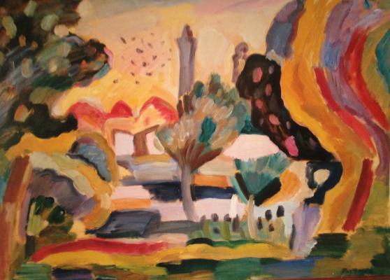 "Razgulin V. N. ""Oriental Landscape"""