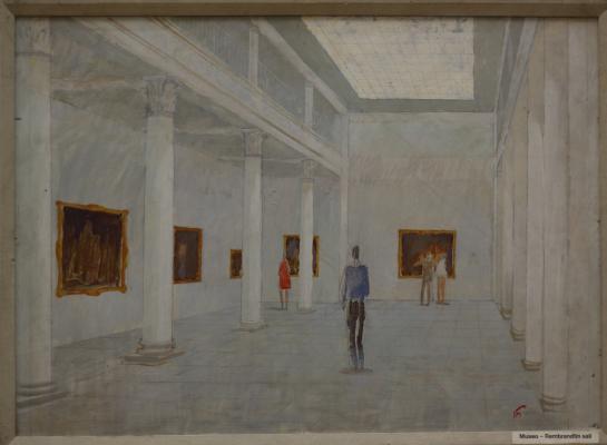 "Bogdanov M. A. ""Museum. Rembrandt hall"""