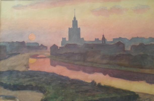 "Koltsov A. Y. ""Moscow. Morning."""