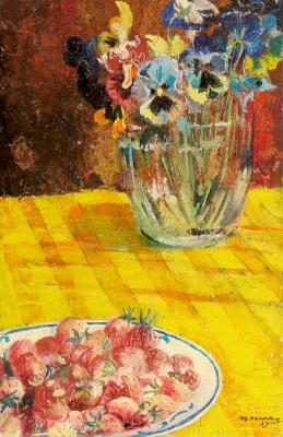 "Pimenov Y. I. ""Strawberry and pansies"""