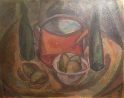 "Mordovin K. A. ""Still life with green pears."""