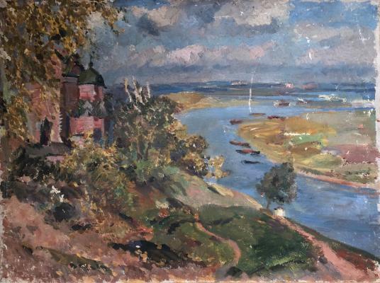Федоровский Федор Федорович. Пейзаж с видом на реку