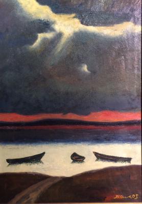 """Petr Pavlovich Ossovsky """"Stormy day"""""""