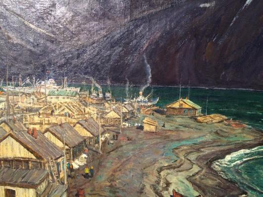 "Chulovich V. N. ""Kamchatka. Settlement of fishermen."""