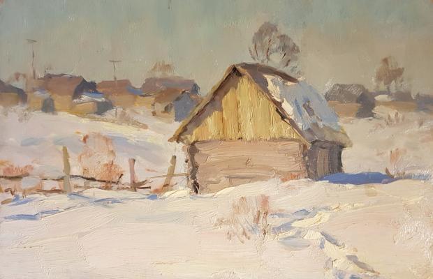 Чулович Виктор Николаевич. Зима. Баньки