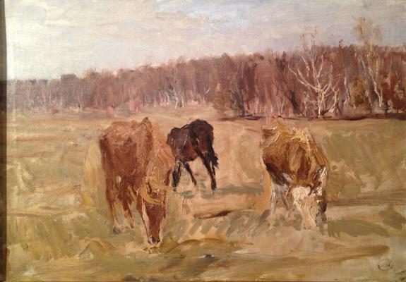 "Plastov A. A. ""Grazing horses"""