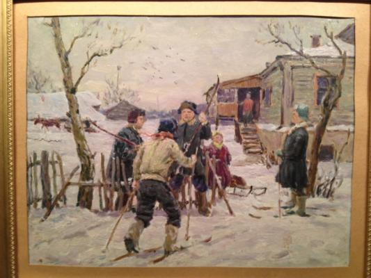 "Tolkunov N. P. ""Winter in the village ."""