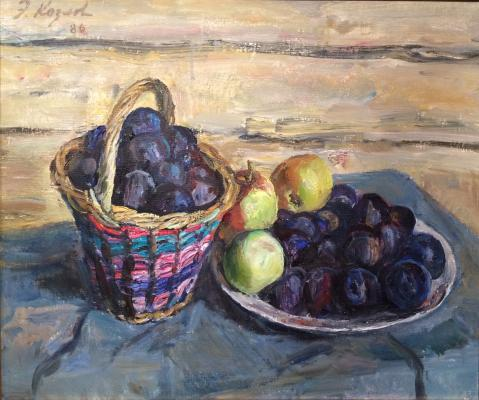 "Kozlov E. V. ""Blue plums in a basket"""