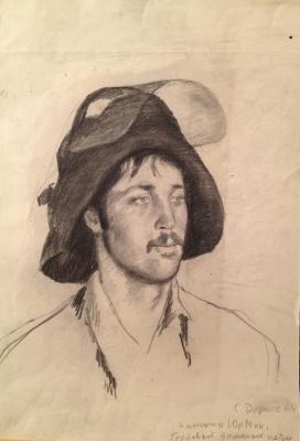 Dudnik Stepan Ilich - Portrait Aniskina Yuri Mikhailovich. Novokuznetsk