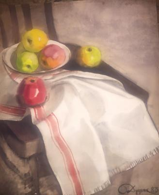 "Dudnik S. I. ""Still life with apples."""