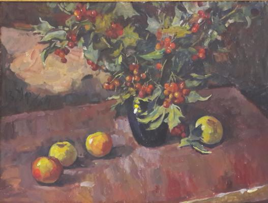 "Ufimtsev V. I. ""Still life with hawthorn."""