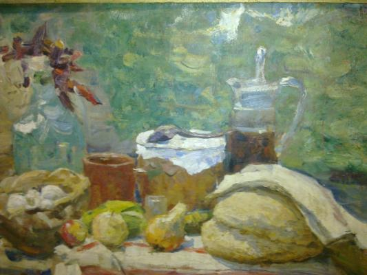 "Gremtskikh V. G. ""Still Life with Palyanitsa ( bread ) ."""