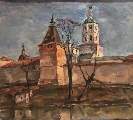Кончаловский Михаил Петрович. Пафнутьев-Боровицкий монастырь. Тайницкая башня