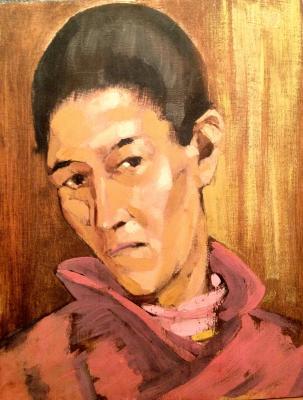 """Rerikh S. N. """"Tibetan lama"""""""