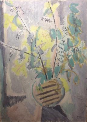 "Pavlovsky S. A. ""Blooming cherry on the window."""