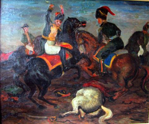 "Zefirov K. K. ""Battle Scene"""