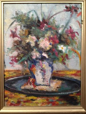 "Zefirov K. K. ""Flowers in a white vase"""