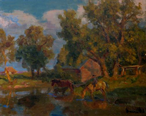 "Vasin ""Horses at the Watering"""