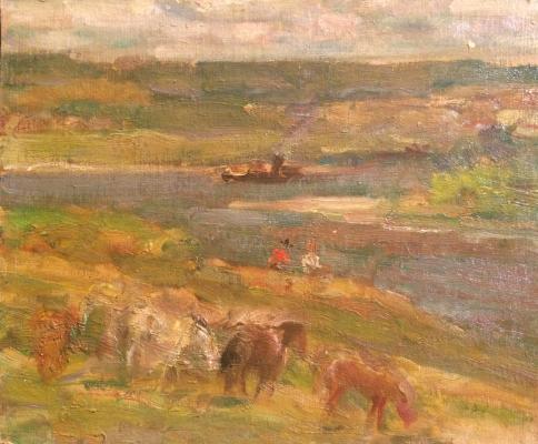 """Vasin """"Horses in the meadow."""""""