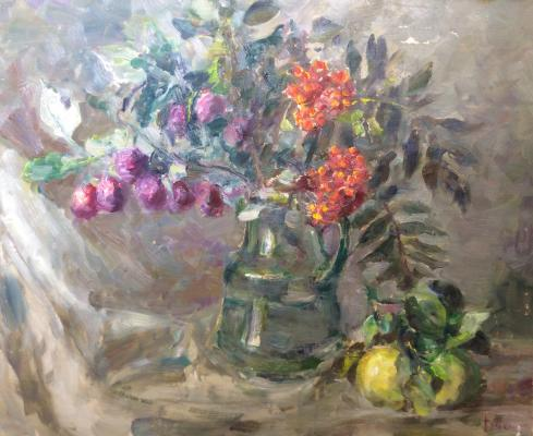 "Vasin V. A. ""Still life with bunch of mountain ash."""