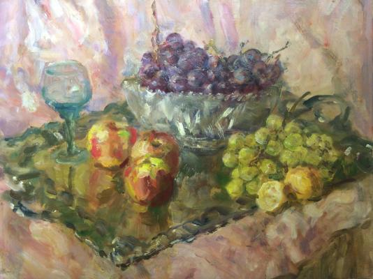 "Vasin V. A. ""Still life with apples and grapes."""