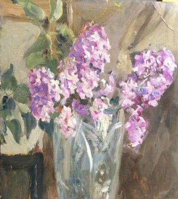 "Vasin V. A. ""A branch of lilac in a vase."""