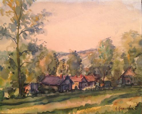 "Mogilevsky A. P. ""Rural landscape ."""
