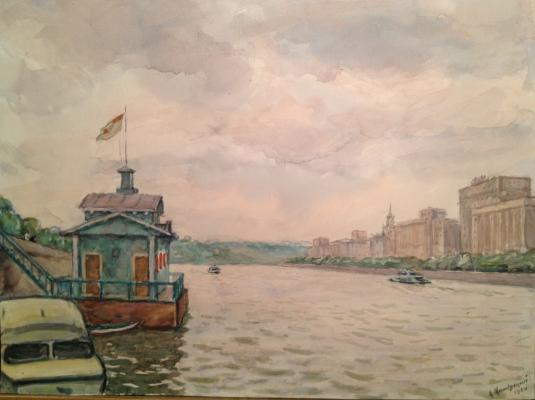 "Mogilevsky A. P. ""Moscow- river at the Frunze Embankment."""
