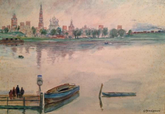 "Mogilevsky A. P. ""Moscow River. Novodevichy Convent."""