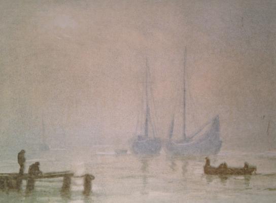 Барто Ростислав Николаевич. Туман на море. Рыбачьи лодки