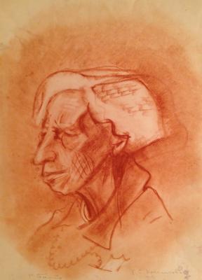 """Barto R. N. """"Portrait of E. Kruglikova"""""""