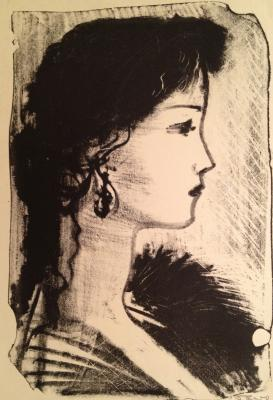 "Barto R. N. ""Portrait of a young girl in profile"""