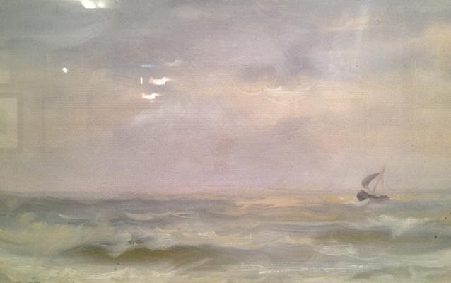 """Barto R. N. """"Sailboat in the sea."""""""