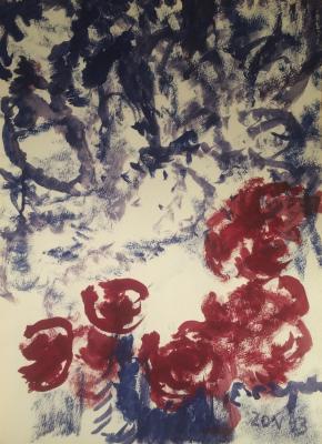"Zernova Y. S. ""Tulips and purple lilacs"""