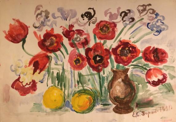 """Zernova Y. S. """"Irises and Tulips."""""""